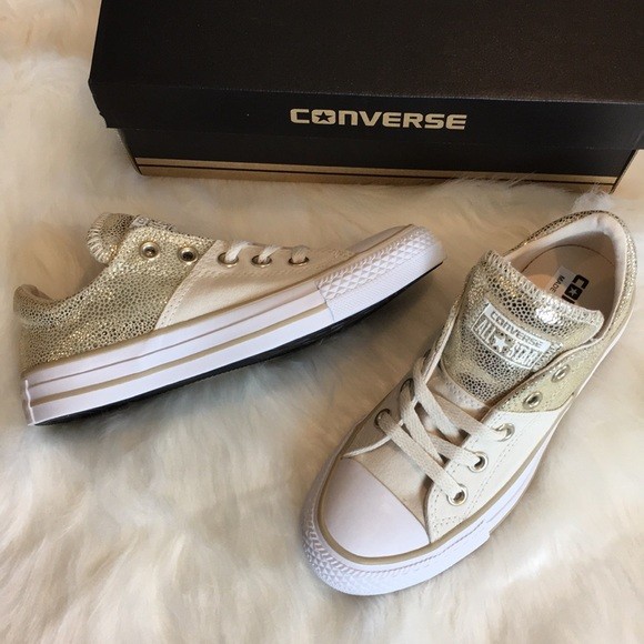 5adf8385eb9 NIB Gold Converse Chuck Taylor All Star Sneakers